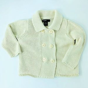 Double Button Baby Gap Sweater In Cream